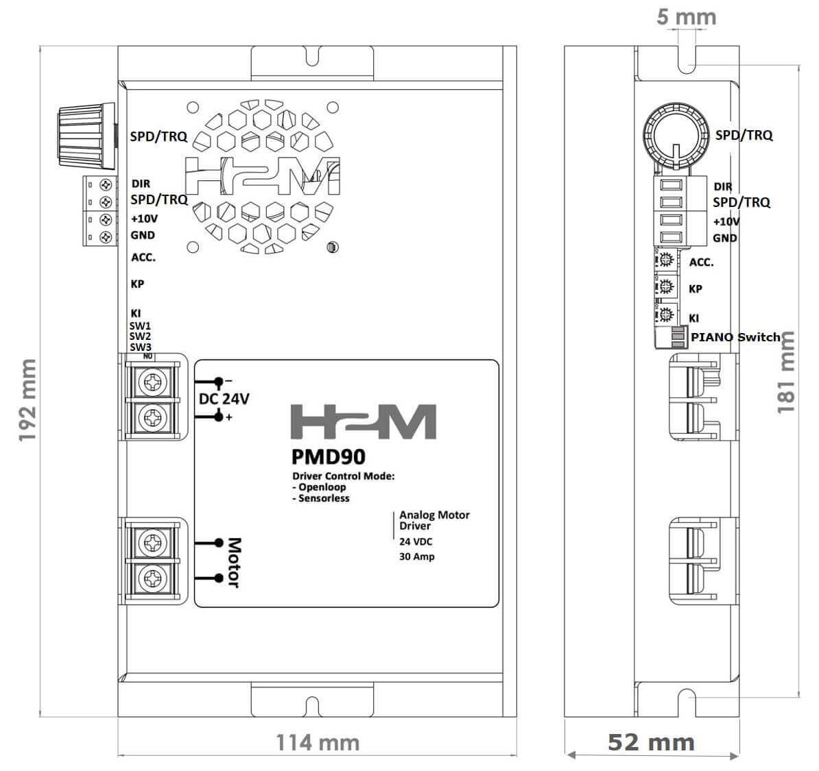 نقشه مکانیکی داریور PMD90