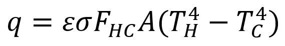 فرمول انتقال حرارت به صورت تابشی از یک شی